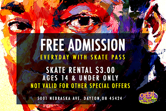 OFC MLK Skate Pass 2019 front